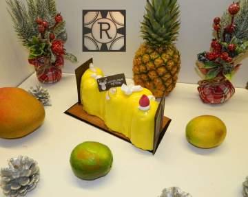 Bûche de Noël aux fruits